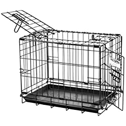 "Petmate ""ProValu"" Wire Dog Crate, Two Doors, Precision Lock System, 6 Sizes"