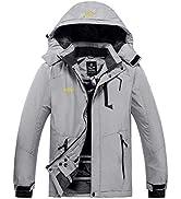 Wantdo Men's Mountain Ski Jacket Waterproof Winter Coat Hooded Windbreaker Warm Snowboarding Jack...