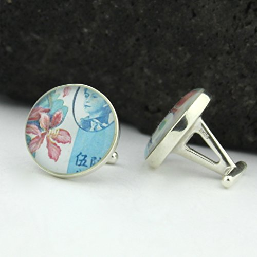 hong-kong-cufflinks-vintage-hong-kong-postage-stamp-sterling-silver-cufflinks-cuff-links