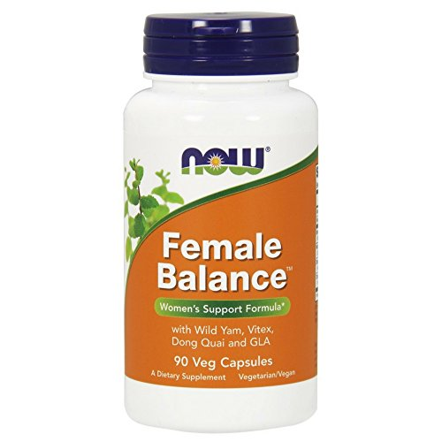 NOW Supplements, Female BalanceTM with Wild Yam, Vitex, Dong Quai, GLA, Vitamin B-6 and Folate, 90 Capsules