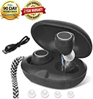 Leather Wireless Earbuds, MaxRona Deep Bass Wireless Headphones 14H Playtime Ture Wireless Bluetooth Earbuds Mini Wireless Bluetooth Headphones 3D Stereo Sound Bluetooth Headset(2pieces red)