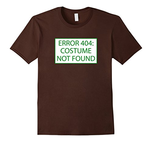 Mens Error 404 Costume Not Found Nerd Geek Computer Error T-Shirt Large (Do It Yourself Halloween Costumes For Guys)
