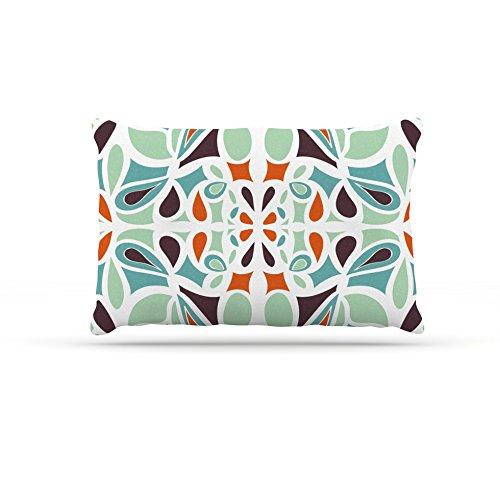 Large 30\ Kess InHouse Miranda Mol orange Purple Stained Glass  Fleece Dog Bed, 30 by 40-Inch