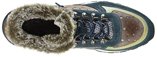 Dames Bleu Bugatti 421285501430 Haute Sneaker (bleu / Multicolor)