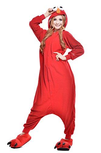 NEWCOSPLAY Halloween Adult Street Pajamas Sleepwear Animal Cosplay Costume as Sleepwear Animal Cosplay Costume (M, Red)