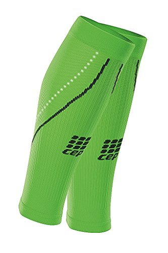 CEP Progressive+ Night Compression Calf Sleeves 2.0, Flash Green/Black, Women, Size 3 B013XREFK2