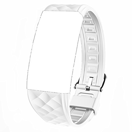Juboury Replacement Band - Adjustable Strap for Juboury Heart Rate Activity Tracker Smart Wristband (White)