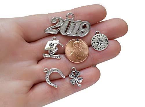 2019 Lucky Charm Lot for Graduation Tassel Wedding Birth DIY Craft Supply Lead Free Pewter Charms - Lead Free Pewter Charm