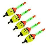5 Piece 5g EVA Floats +10pcs Glow Stick THKFISH Fishing Floats Luminous Lighting EVA Foam Floats