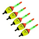 5 Piece 5g EVA Floats +10pcs Stick Glow Fishing Floats Luminous Lighting EVA Foam Floats