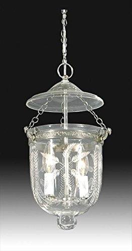 B&P Lamp Tiny Hall Lantern With Laurel Swags Design & Antique Brass Finish Hardware, by B&P Lamp