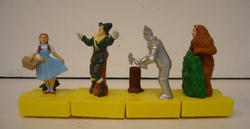 wizard-of-oz-miniature-interlocking-figures-set-of-4-blockbuster-promotion-toy