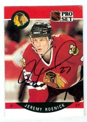 Autograph 120428 Chicago Blackhawks 1990 Pro Set No. 58 J...