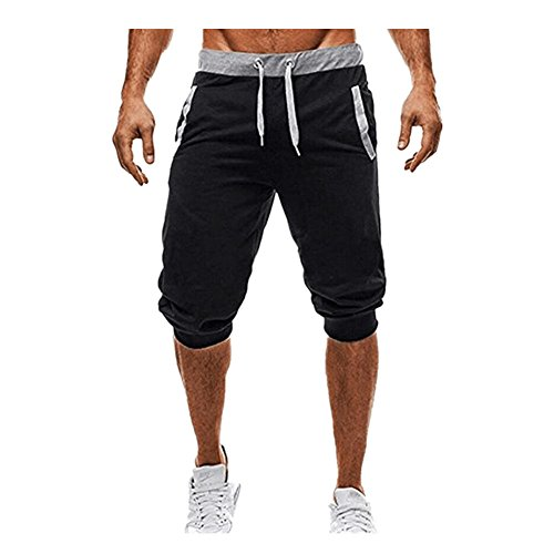 Inverlee Men Trouser Sport Fitness Jogging Elastic Stretchy Bodybuilding Bermuda Sweatpants (L, (Golf Sweatpants)