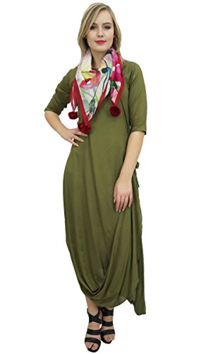 Wear Tassel Teal Holiday Drape Scarf Bimba Maxi Women's Green Olive Cowl With Dress Hf0qRvw
