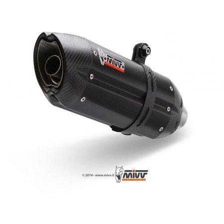 SUZUKI 600-750 GSXR-06/07-SILENCIEUX MIVV SUONO STEEL BLACK-MVS021L9