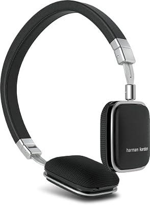 Harman Kardon SOHOi BLK Premium Lie Flat-On Ear Mini Headphones with iOS Remote (Black)
