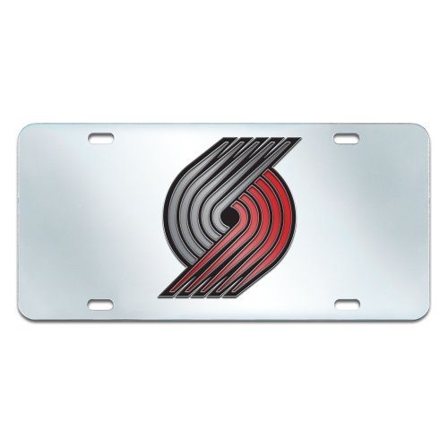 FANMATS NBA Portland Trail Blazers Plastic License Plate (Inlaid) by Fanmats