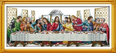 Joy Sunday Cross Stitch kits, The Last Supper ,11CT Printed,