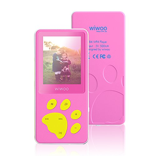 Aniee MP3 Player/MP4 Player, Kids MP3 Player with FM Radio/Video/Photo Viewer & Voice Recorder, Music Player with Cartoon Bear Paw Button Support Up to 64GB, (Mp3 Mp4 Video Game)