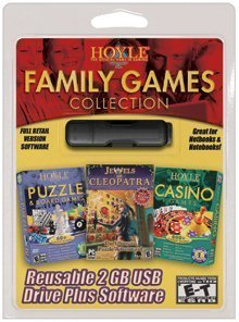 Pc Treasures 2GB USB Pocket Drive with Hoyle Family Games...