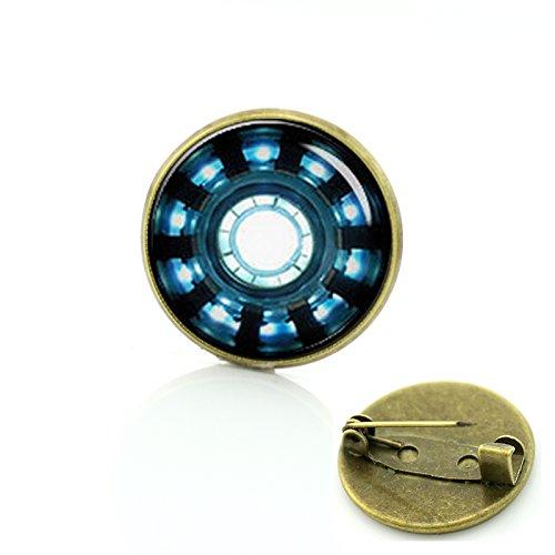 Patch Nation Iron Man ARC Réacteur Cosplay Metall Pin Badge