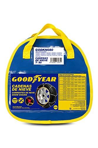 GOOD YEAR GODKN080 Les chaînes à Neige Metalicas de T.80, 9MM