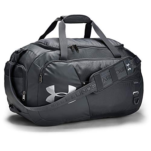 Under Armour unisex-adult Undeniable Duffle 4.0 Gym Bag, Pitch Gray (012)/Silver, Medium