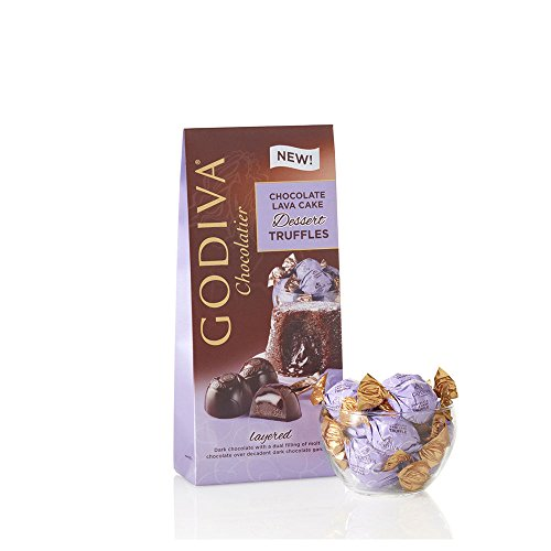Godiva Chocolatier Chocolate Lava Cake Dessert Truffles Gift, Dark Chocolate Cake Truffles, Great as Stocking Stuffers, 20 Count