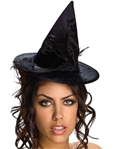 Rubies Mini Velour Witch Hat,Black,One Size -