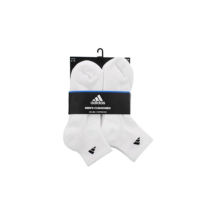 adidas Men's Athletic Quarter Sock (6 Pack)
