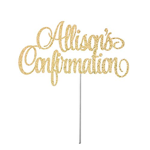 Personalized Confirmation Cake Topper Religious Cake Topper Confirmation God Bless First Holy Communion Religious Party -