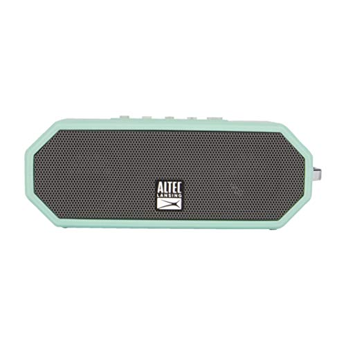 Altec Lansing IMW449 Jacket H2O 4 Rugged Floating Ultra Portable Bluetooth Waterproof Speaker with up to 10 Hours of Battery Life, 100FT Wireless Range and Voice Assistant Integration (MTG) (Best Voice Assistant Speaker)