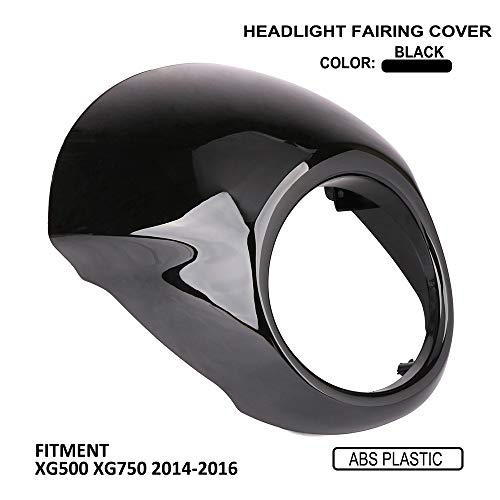 JFG RACING Head Light Fairing Mask Cover Front Headlight Fairing Cowl For Harley Davidson Street XG 500 XG750 2014-2016