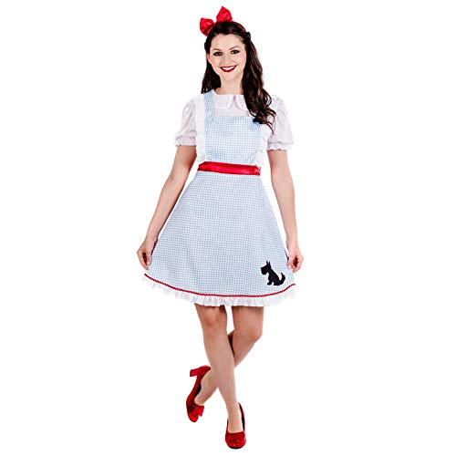 Dorothy Of The Wizard Of Oz Costume (Womens Dorothy Costume Adults Wizard Of Oz Film Outfit Book Dress -)