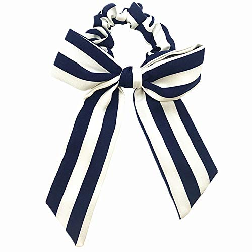 Women's Hair Accessories - 1pcs Cotton Bow Scrunchies Flower Stripe Print Elastic Hair Band Girls Ponytail Holder Women Bow Knot Hair Tie Head Wear