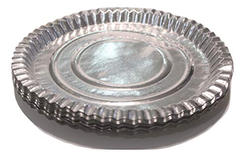 Paper Disposable Plates   Pack of 40, Silver