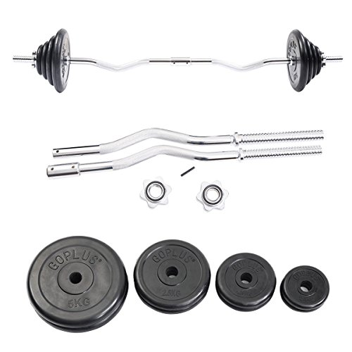 Apontus 52 lbs Gym Lifting Exercise Barbell Weight Set by Apontus