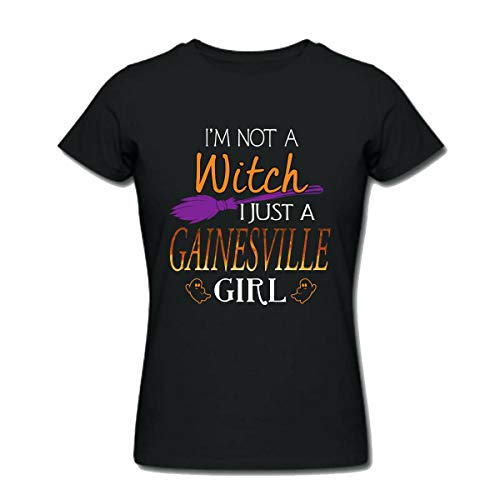 Halloween Shirts For Gainesville Girl - I Am Not a Witch I Just a Gainesville Girl - Womens T Shirts Medium -