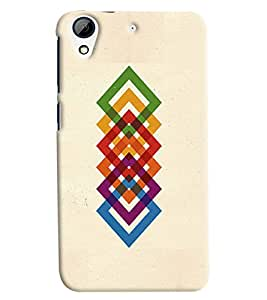 Omnam Colorful Square Effect Printed Back Cover Case For HTC Desire 626