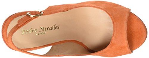 PEDRO MIRALLES 19225, Sandalias con Plataforma Para Mujer Naranja (Mandarina)