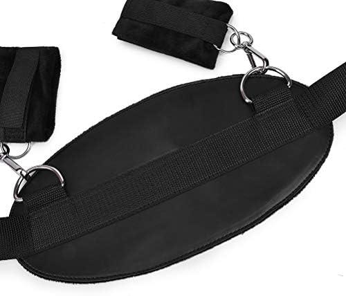 Healifty Erwachsene Handschellen Bettmanschetten Beinmanschetten Handgelenk- und Fußfesseln Bondage-Fesseln für Paare (Schwarz)