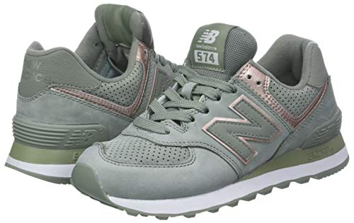 Metallic champagne New 574v2 brown Gris Balance Nbl Para Zapatillas Seed Mujer TTawPq