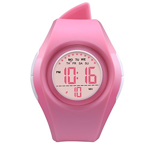 Kids Watch Waterproof Children Electronic Watch - Lighting Watch 50M Waterproof,LED Digital Stopwatch with Chronograph, Alarm,Time Window Child Wrist Watch for Boys, Girls