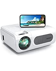 """Projector, BOSNAS WiFi Bluetooth Projector 8500L Full HD Video Projector Native 1080P/4k Wireless LED/LCD Home&Outdoor Movie Theater, 300"""" Zoom Function for TV Stick,HDMI, PS4, Laptop, iOS & Android"""