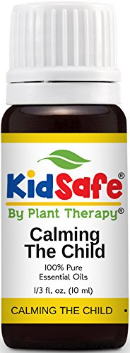 Plant Therapy KidSafe Calming the Child Synergy Essential Oil Blend. 100% Pure, Undiluted, Therapeutic Grade. Blend of: Chamomile Roman, Lavender, Mandarin and Tangerine. 10 mL (1/3 Ounce)