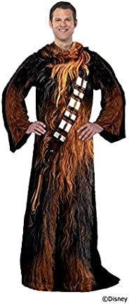 "Disney Star Wars, ""Being Chewie"" Adult Soft Throw Blanket with Sleeves, 48"" x 7"