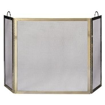 3 Fold Polished Screen w/ Handles (Uniflame Corporation 3 Panel)