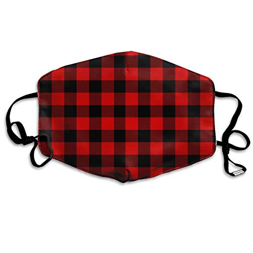 Lumberjack Plaid Red Black Pattern Anti-dust Mouth Mask Face Masks Mouth Cover for Man and -