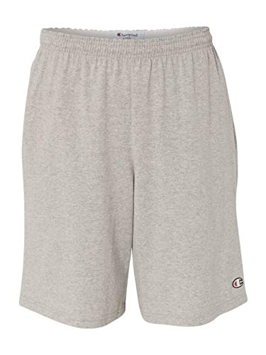 Champion Men's Jersey Short With Pockets, Oxford Grey, X-Lar